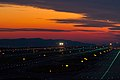Twilight take off at Osaka Kansai International Airport.jpg