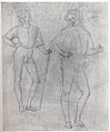 Two Studies of a Standing Youth in Quattrocento Clothing (recto); a cardinal's hat on a fragmentary coat of arms with a griffin (the arms of the city of Perugia) (verso) MET sf-rlc-1975-1-393-r.jpeg