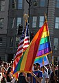 Two flags - DC Gay Pride Parade 2012 (7171055395).jpg