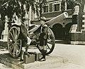 Two new students pose by the artillery gun at Brisbane Boy's Grammar School (4903140563).jpg