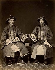 Two officials by Lai Afong c1880s.jpg