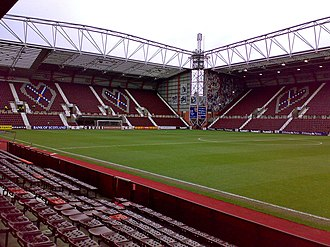Gorgie - Tynecastle Stadium, home of Heart of Midlothian F.C.