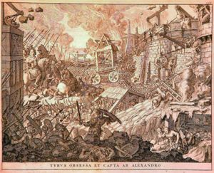 Tyre besieged and captured by Alexander (1696).jpg