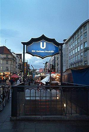 Rathaus Neukölln (Berlin U-Bahn) - The entrance of U-Bahn station Rathaus Neukölln