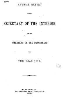 U.S. Department of the Interior Annual Report 1872.djvu