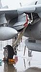 U.S. Marine Corps EA-6B Prowler(163046) of VMAQ-2 right main landing gear right front view at MCAS Iwakuni May 3, 2015 01.jpg