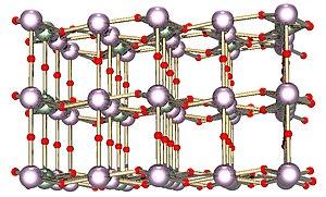 Triuranium octoxide - Image: U3O8lattice