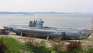 Das Boot - U 995, a U-boat of the version VII-C/41, at its exhibition in Laboe in 2004