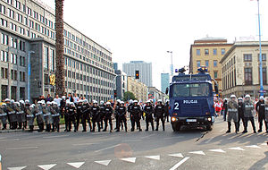 Panorama (TV series) - Police in Warsaw on 12 June 2012