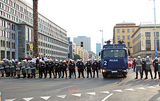 UEFA Euro 2012 - Police in Warsaw before the match between Poland and Russia