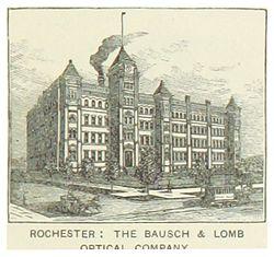 844f875bab322 Sede en Nueva York de la compañía óptica Bausch   Lomb (1891).
