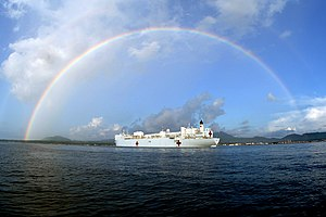 USNS Mercy (T-AH-19) - USNS Mercy anchored off Jolo, Philippines in June 2006.