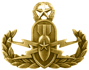 Explosive Ordnance Disposal Badge - Navy EOD Warfare Officer Insignia