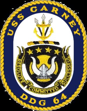 USS Carney - Image: USS Carney DDG 64 Crest