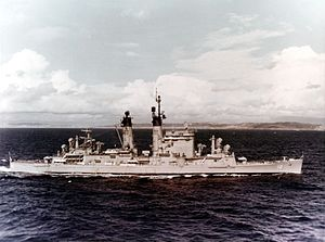 USS Columbus (CA-74) - USS Columbus off San Diego in 1965.