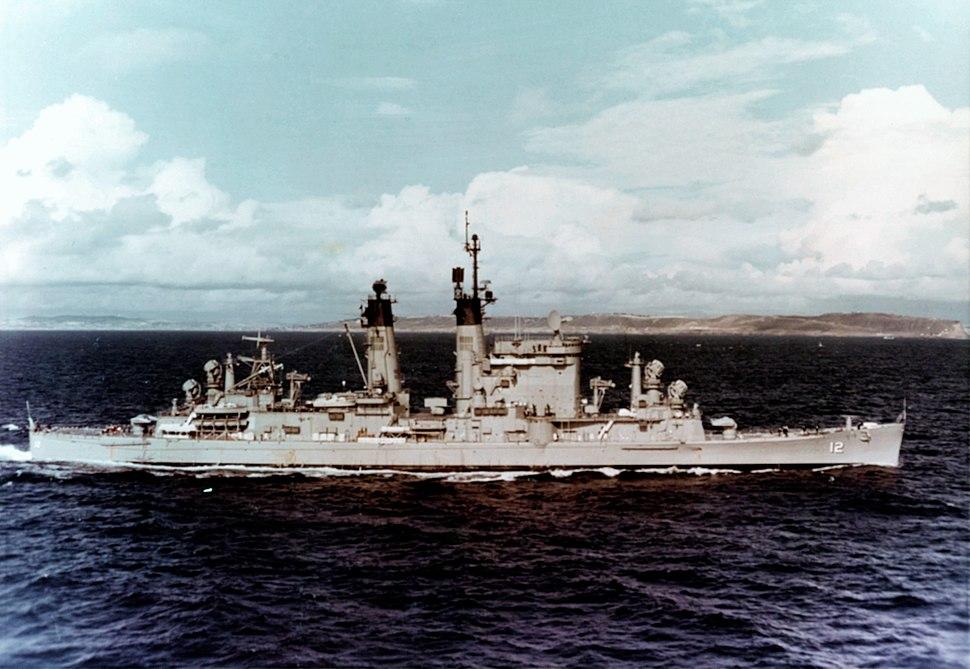 USS Columbus (CG-12) underway off San Diego on 19 February 1965 (NH 82722-KN)