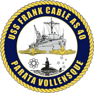 USS Frank Cable (AS-40) - Image: USS Frank Cable AS 40 Crest