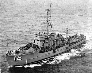 USS Harkness (AMCU-12) - Image: USS Harkness (AMCU 12)