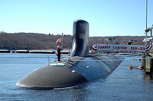 USS Jimmy Carter - Image: USS Jimmy Carter (SSN 23) flying Jack