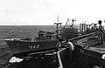 USS Ponchatoula (AO-148) refueling USS Kitty Hawk (CV-63) on 7 April 1975.jpeg