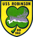 USS Robinson (DD-562) insignia in the 1950s.png