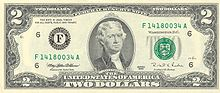 US $2 obverse