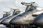US Navy 021106-N-1810F-019 F-A-18 Hornet aircraft paked on board USS Kitty Hawk.jpg