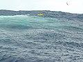 US Navy 030108-N-2338M-001 Sailors aboard the U.S. Navy hospital ship USNS Comfort (T-AH 20) spot a life raft at sea near Bermuda.jpg
