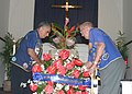 US Navy 040926-N-5539C-001 Members of the U.S. Submarine Veterans of World War II place a wreath during a ceremony held on Sept. 26, 2004.jpg