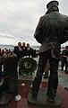 US Navy 041229-N-9693M-287 Secretary of the Navy (SECNAV), Gordon England, lays a wreath in honor of Sailors and Marines.jpg