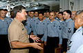 US Navy 050910-N-6495K-065 Master Chief Petty Officer of the Navy (MCPON) Terry Scott speaks to chief petty officer selectees aboard the Nimitz-class aircraft carrier USS Harry S. Truman (CVN 75).jpg