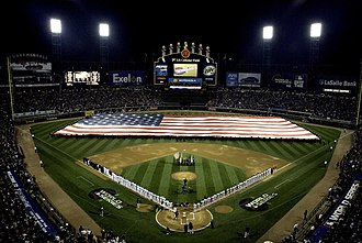 2005 World Series - The teams on the field before Game 1.