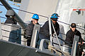 US Navy 060404-N-5055G-015 Sailors stationed aboard the guided-missile destroyer USS Stout (DDG 55) haul in mooring lines as the ship deploys for the Partnership of the Americas training exercise.jpg