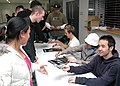 US Navy 070123-N-2970T-005 Members of the band 'Hoobastank' sign autographs for fans after their concert at Fleet Activities Sasebo (CFAS).jpg
