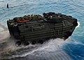 US Navy 091010-N-5345W-063 An amphibious assault vehicle (AAV) assigned the 22nd Marine Expeditionary Unit (22nd MEU) exits the well deck.jpg