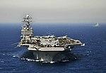 US Navy 100602-N-6003P-418 The Nimitz-class aircraft carrier USS Harry S. Truman (CVN 75) transits the Strait of Gibraltar.jpg