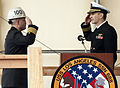 US Navy 110204-N-0158T-023 Capt. Mark Whitney, left, commander of Puget Sound Naval Shipyard and Intermediate Maintenance Facility.jpg