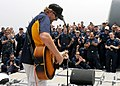 US Navy 110424-N-BZ392-597 Country music entertainer Toby Keith performs an Easter USO concert aboard the guided-missile cruiser USS Leyte Gulf (CG.jpg