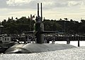 US Navy 111005-N-UK333-038 The Los Angeles-class submarine USS Bremerton (SSN 698) returns to Joint Base Pearl Harbor-Hickam.jpg