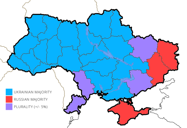 fileukraine majority language map 2001png wikimedia