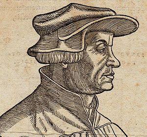 Reformation in Switzerland - Huldrych Zwingli (woodcut by Hans Asper, 1531).