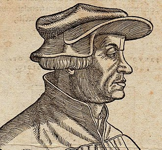 Reformation in Switzerland - Huldrych Zwingli (woodcut by Hans Asper, 1531).
