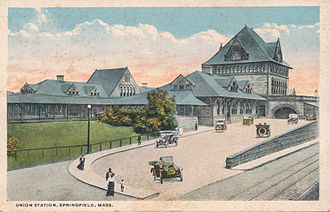 Springfield Union Station (Massachusetts) - The second Union Station, ca. 1910