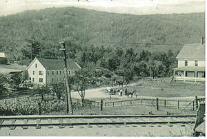 Grafton, New Hampshire - The United Mica Company operated this mill between 1909 and 1916.  Image c. 1909