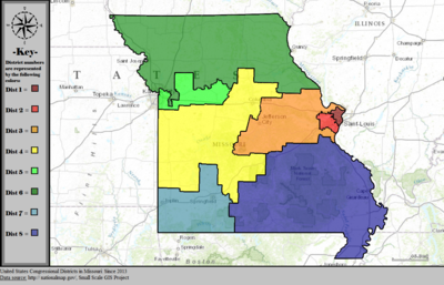 United States Congressional Districts in Missouri, since 2013.tif