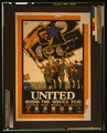 United behind the service star, United War Work Campaign LCCN2002699394.tif