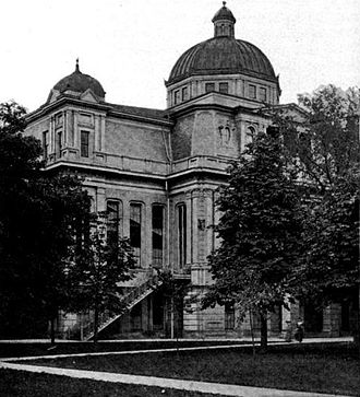 History of the University of Michigan - University Hall, sometime after the addition of a new dome in 1896