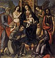 Unknown painter - Virgin and Child with Four Saints - WGA23947.jpg