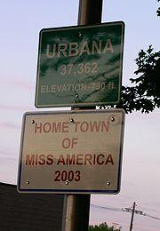 Sign honoring Erika Harold, Miss America 2003