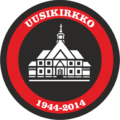 Uusikirkko 1944-2014 juhlalogo.png